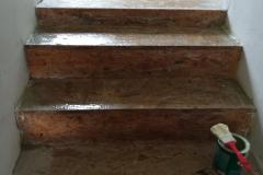 Pokládka PVC na schodiště